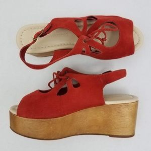 Anthropologie | Madison Harding Suede Platforms